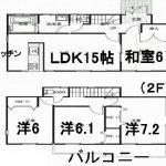中古一戸建て 川越市菅間 間取り図(間取)
