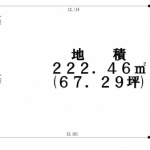 土地 所沢市東町 区画図(間取)
