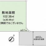 土地 狭山市中央 見取図(間取)