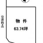 土地 入間市小谷田 区画図(間取)