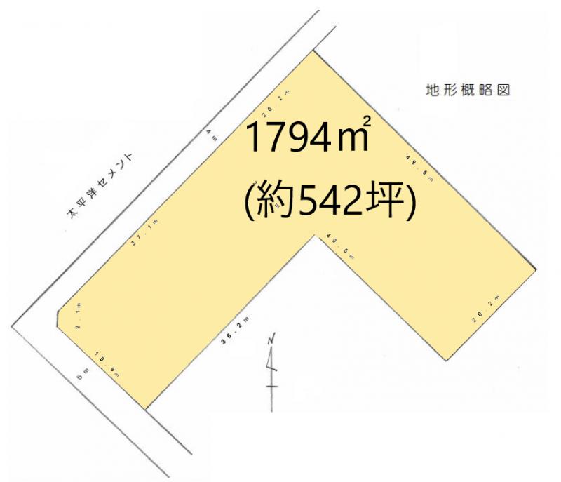 土地 日高市原宿 区画図(間取)