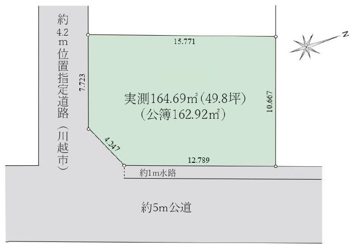 土地 川越市渋井 区画図(間取)