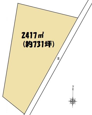 土地 狭山市南入曽 区画図(間取)