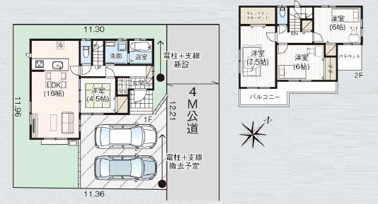 新築一戸建て 富士見市諏訪 間取り図 (間取)
