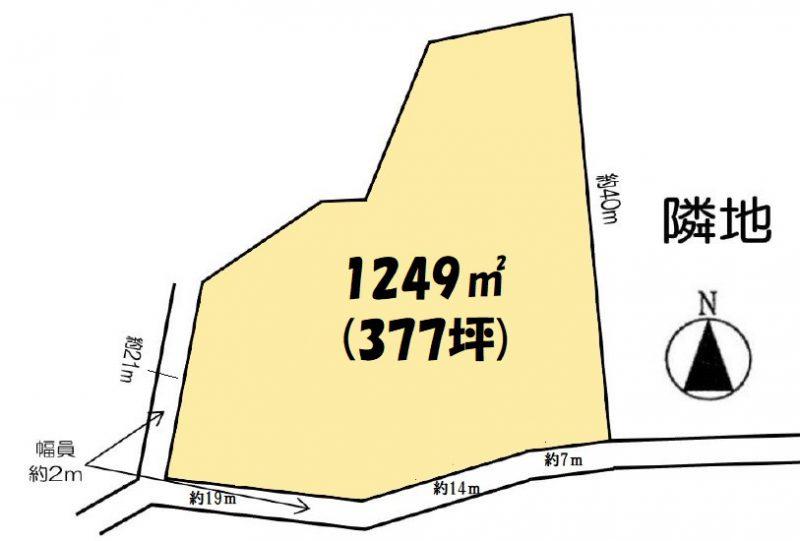 土地 日高市女影 区画図(間取)