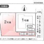 新築一戸建て 所沢市下安松区画図(間取)