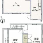 中古一戸建て 入間市東町 間取(間取)