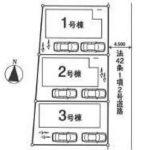 新築一戸建て 川越市岸町 区画図(間取)