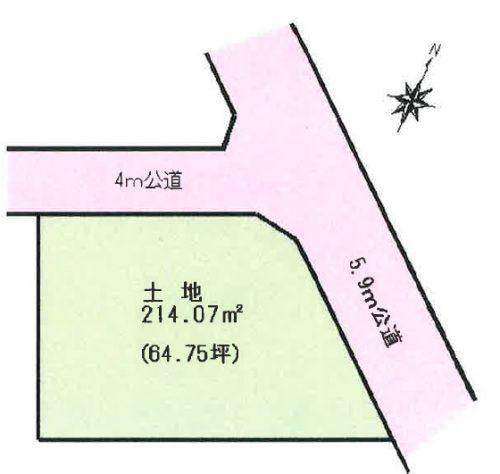 土地 川越市笠幡 区画図(間取)