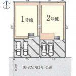 新築一戸建て 川越市かすみ野 区画図(間取)