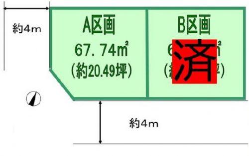 土地 ふじみ野市北野  区画図(間取)