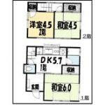 590万円、3DK、土地面積61.52m2、建物面積48.24m2土地:61.52m2 建築面積:28.37m2 間取り:3DK(間取)