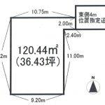 土地 所沢市上安松 区画図(間取)