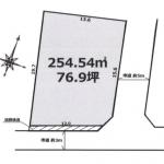 土地 富士見市上南畑 区画図(間取)