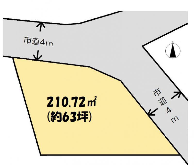 土地 日高市高萩 区画図(間取)