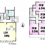 新築一戸建て 所沢市下安松 間取図(間取)