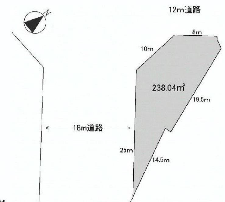 土地 日高市猿田 区画図(間取)