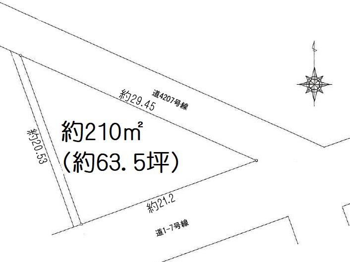 土地 川島町下伊草 区画図(間取)