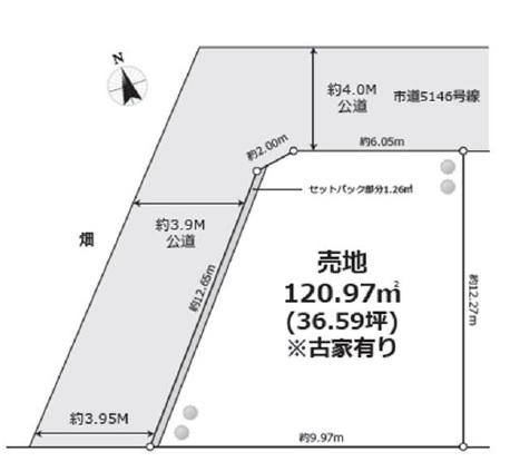土地 川越市木野目 区画図(間取)