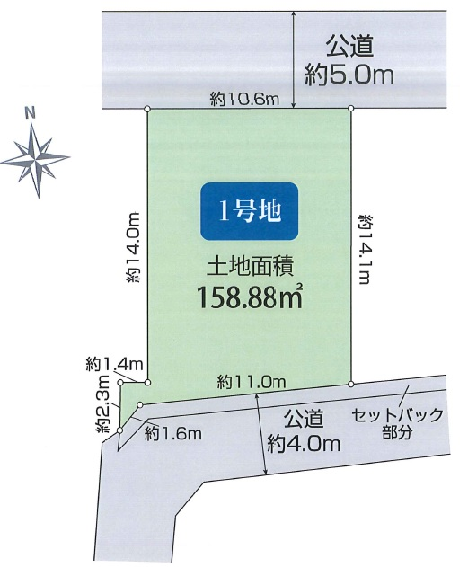 土地 川越市豊田町 区画図(間取)