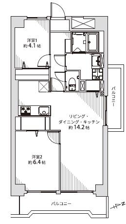 中古マンション 川越市連雀町 間取り図(間取)