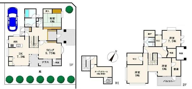 約190㎡の大型住宅(間取)
