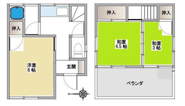 3K(間取)