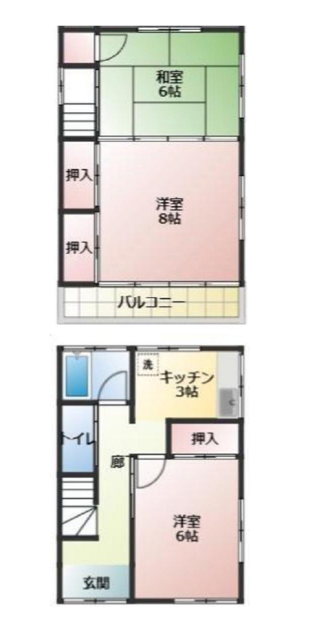 寛げる和室6帖(間取)