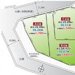 土地 所沢市山口 区画図(間取)