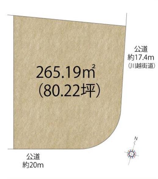 土地 ふじみ野市亀久保 区画図(間取)