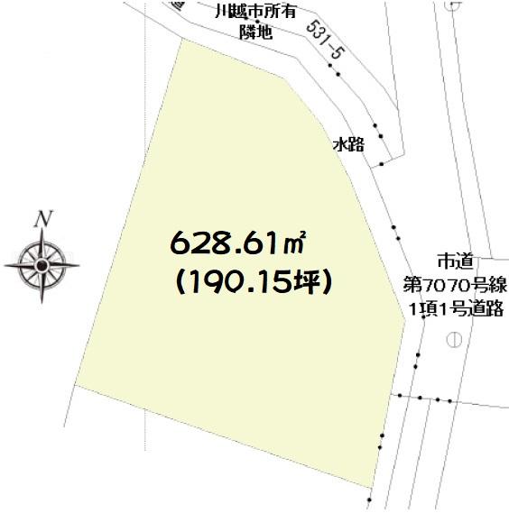 土地 川越市池辺 区画図(間取)