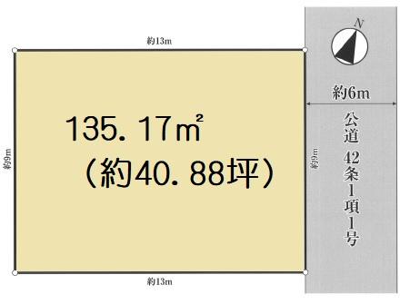 土地 川越市仙波町 区画図(間取)