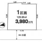 土地 川越市元町 区画図(間取)