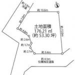土地 入間市鍵山 区画図(間取)