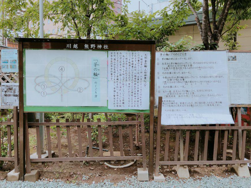 川越熊野神社 茅の輪やり方