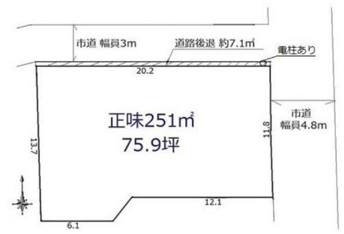 土地 川越市古市場 区画図(間取)