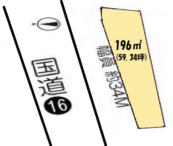 土地 狭山市入間川 区画図(間取)