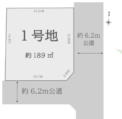 土地 川越市上戸新町 区画図(間取)