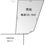 土地 入間市野田 区画図(間取)