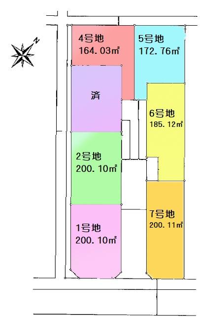 土地 富士見市下南畑 区画図(間取)