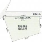 土地 所沢市城 区画(間取)