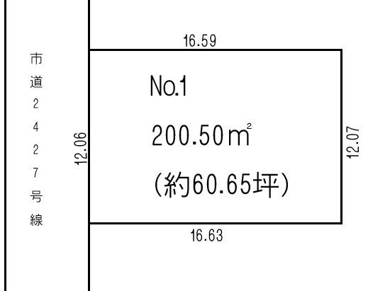 土地 川越市府川 区画図(間取)