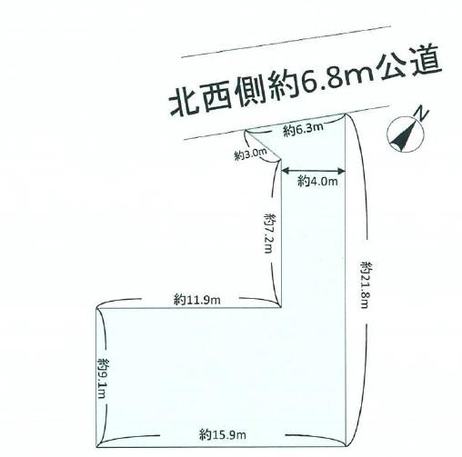 土地 ふじみ野市西 区画図(間取)