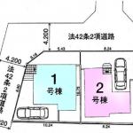 新築一戸建て 所沢市上安松 区画図(間取)