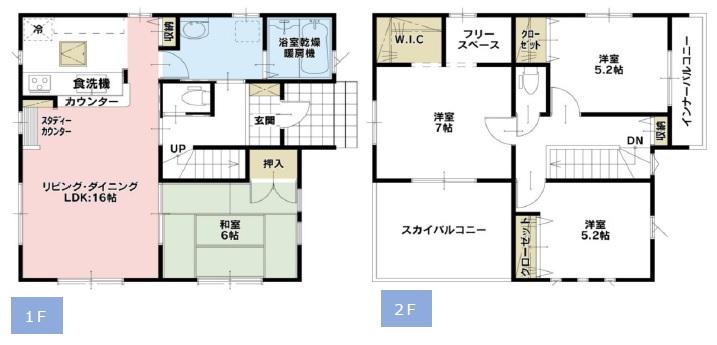 新築一戸建て 川越市的場 間取り図(間取)