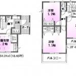 新築一戸建て 所沢市松郷 間取図(間取)
