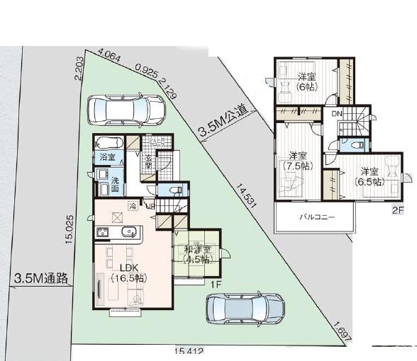 新築一戸建て 川越市寿町 間取り図(間取)