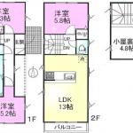 新築一戸建て 所沢市上安松 間取図(間取)