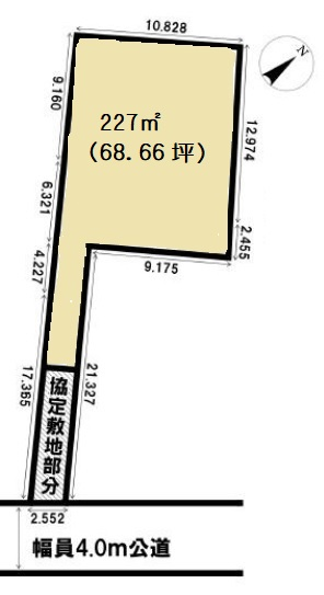 土地 川越市新宿町 区画図 (間取)