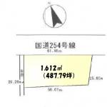 土地 新座市畑中 区画図(間取)